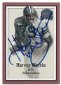 HARVEY MARTIN DALLAS COWBOYS AUTOGRAPHED FOOTBALL CARD #12516L