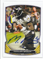 MARLON BROWN BALTIMORE RAVENS AUTOGRAPHED FOOTBALL CARD #12616B