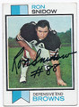 RON SNIDOW CLEVELAND BROWNS AUTOGRAPHED VINTAGE FOOTBALL CARD #12616D