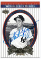 PHIL RIZZUTO NEW YORK YANKEES AUTOGRAPHED BASEBALL CARD #12616F