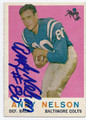 ANDY NELSON BALTIMORE COLTS AUTOGRAPHED VINTAGE FOOTBALL CARD #12616i