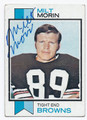 MILT MORIN CLEVELAND BROWNS AUTOGRAPHED VINTAGE FOOTBALL CARD #12716B