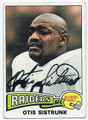 OTIS SISTRUNK OAKLAND RAIDERS AUTOGRAPHED VINTAGE FOOTBALL CARD #12716D