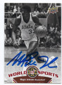MAGIC JOHNSON MICHIGAN STATE UNIVERSITY AUTOGRAPHED BASKETBALL CARD #12716J