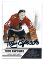 TONY ESPOSITO CHICAGO BLACK HAWKS AUTOGRAPHED HOCKEY CARD #12816C