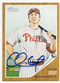 CHASE UTLEY PHILADELPHIA PHILLIES AUTOGRAPHED BASEBALL CARD #12816i