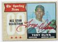 TONY OLIVA MINNESOTA TWINS AUTOGRAPHED VINTAGE BASEBALL CARD #12816K
