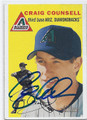 CRAIG COUNSELL ARIZONA DIAMONDBACKS AUTOGRAPHED BASEBALL CARD #12916i