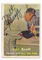 MILT GRAFF KANSAS CITY ATHLETICS AUTOGRAPHED VINTAGE BASEBALL CARD #13016D