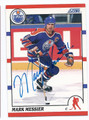 MARK MESSIER EDMONTON OILERS AUTOGRAPHED HOCKEY CARD #13016H