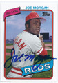JOE MORGAN CINCINNATI REDS AUTOGRAPHED BASEBALL CARD #13016L