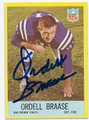 ORDELL BRAASE BALTIMORE COLTS AUTOGRAPHED VINTAGE FOOTBALL CARD #13116K