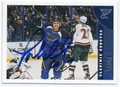 VLADIMIR SOBOTKA ST LOUIS BLUES AUTOGRAPHED HOCKEY CARD #20116D