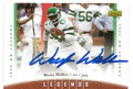 WESLEY WALKER NEW YORK JETS AUTOGRAPHED FOOTBALL CARD #20116G