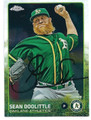 SEAN DOOLITTLE OAKLAND ATHLETICS AUTOGRAPHED BASEBALL CARD #20216B