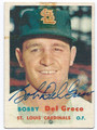 BOBBY DEL GRECO ST LOUIS CARDINALS AUTOGRAPHED VINTAGE BASEBALL CARD #20216E