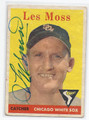 LES MOSS CHICAGO WHITE SOX AUTOGRAPHED VINTAGE BASEBALL CARD #20216i