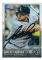 MELKY CABRERA CHICAGO WHITE SOX AUTOGRAPHED BASEBALL CARD #20316K