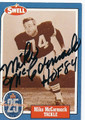 MIKE McCORMACK CLEVELAND BROWNS AUTOGRAPHED VINTAGE HALL OF FAME FOOTBALL CARD #20416A
