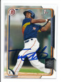 TEOSCAR HERNANDEZ HOUSTON ASTROS AUTOGRAPHED ROOKIE BASEBALL CARD #20516B