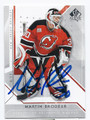 MARTIN BRODEUR NEW JERSEY DEVILS AUTOGRAPHED HOCKEY CARD #20516D