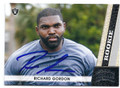 RICHARD GORDON OAKLAND RAIDERS AUTOGRAPHED ROOKIE FOOTBALL CARD #20516i