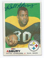 BILL ASBURY PITTSBURGH STEELERS AUTOGRAPHED VINTAGE FOOTBALL CARD #20616K