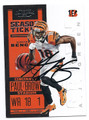 AJ GREEN CINCINNATI BENGALS AUTOGRAPHED FOOTBALL CARD #20716B