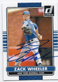 ZACK WHEELER NEW YORK METS AUTOGRAPHED BASEBALL CARD #20716F