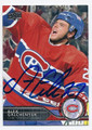 ALEX GALCHENYUK MONTREAL CANADIENS AUTOGRAPHED HOCKEY CARD #20716L