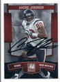 ANDRE JOHNSON HOUSTON TEXANS AUTOGRAPHED FOOTBALL CARD #20916C