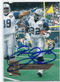 EMMITT SMITH DALLAS COWBOYS AUTOGRAPHED FOOTBALL CARD #20916i