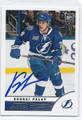 ONDREJ PALAT TAMPA BAY LIGHTNING AUTOGRAPHED ROOKIE HOCKEY CARD #21016D