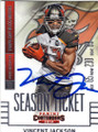 VINCENT JACKSON TAMPA BAY BUCCANEERS AUTOGRAPHED FOOTBALL CARD #21016E