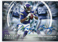 TEDDY BRIDGEWATER MINNESOTA VIKINGS AUTOGRAPHED FOOTBALL CARD #21016G
