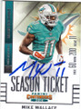MIKE WALLACE MIAMI DOLPHINS AUTOGRAPHED FOOTBALL CARD #21016H