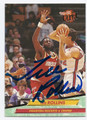 TREE ROLLINS HOUSTON ROCKETS AUTOGRAPHED BASKETBALL CARD #21116F