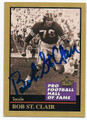BOB ST CLAIR SAN FRANCISCO 49ers AUTOGRAPHED FOTBALL CARD #21116J