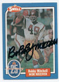 BOBBY MITCHELL WASHINGTON REDSKINS AUTOGRAPHED VINTAGE FOOTBALL CARD #21216i
