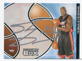 SHAQUILLE O'NEAL MIAMI HEAT AUTOGRAPHED BASKETBALL CARD #21216J