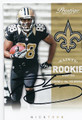 NICK TOON NEW ORLEANS SAINTS AUTOGRAPHED ROOKIE FOOTBALL CARD #21316i