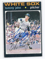 TOMMY JOHN CHICAGO WHITE SOX AUTOGRAPHED VINTAGE BASEBALL CARD #21416C