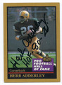HERB ADDERLEY GREEN BAY PACKERS AUTOGRAPHED HALL OF FAME FOOTBALL CARD #21416D