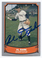 AL DARK NEW YORK GIANTS AUTOGRAPHED VINTAGE BASEBALL CARD #21416E