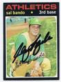 SAL  BANDO OAKLAND ATHLETICS AUTOGRAPHED VINTAGE BASEBALL CARD #21416G