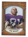 TIM BROWN NOTRE DAME FIGHTING IRISH AUTOGRAPHED FOOTBALL CARD #21416H