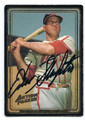 ENOS SLAUGHTER ST LOUIS CARDINALS AUTOGRAPHED BASEBALL CARD #21516A