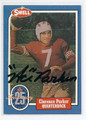 "CLARENCE ""ACE"" PARKER AUTOGRAPHED VINTAGE HALL OF FAME FOOTBALL CARD #21516G"