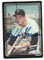 BOBBY THOMSON NEW YORK GIANTS AUTOGRAPHED BASEBALL CARD #21516J