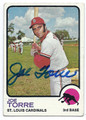 JOE TORRE ST LOUIS CARDINALS AUTOGRAPHED VINTAGE BASEBALL CARD #21516L